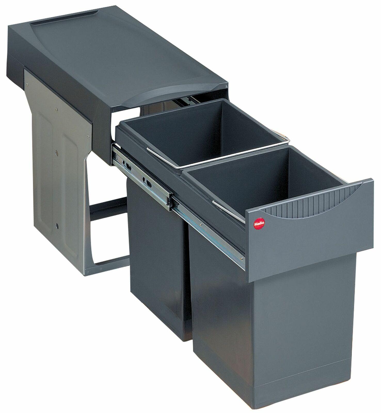 Mülleimer Abfalleimer Küche 2x15 Liter Hailo Müllsystem Mülltrennung *516117
