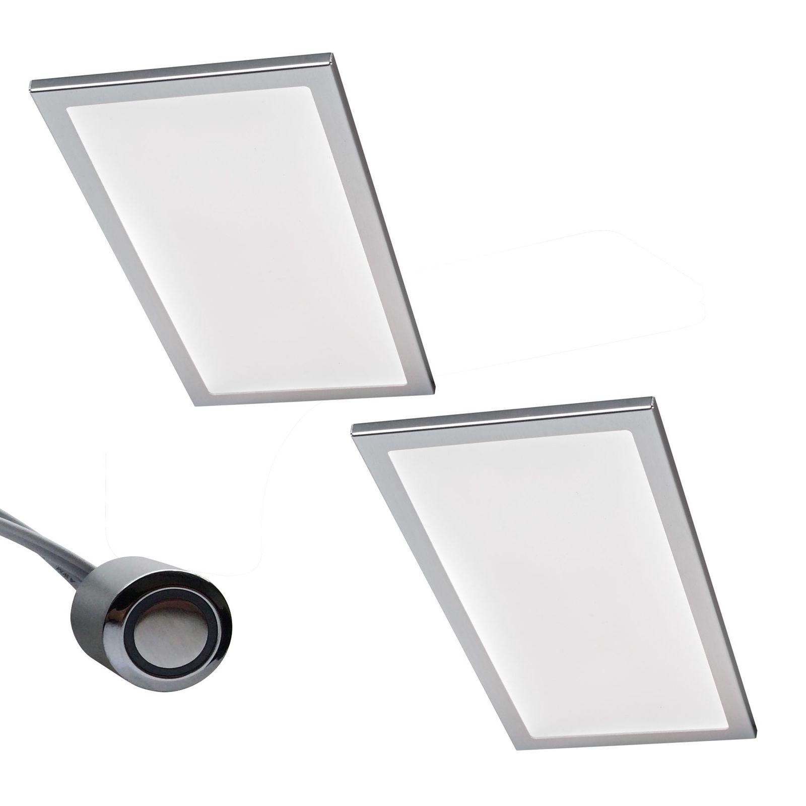 2-er Set LED Küchen Unterbauleuchte BASSO 2 x 6 W Warmweiss Dimmer ...
