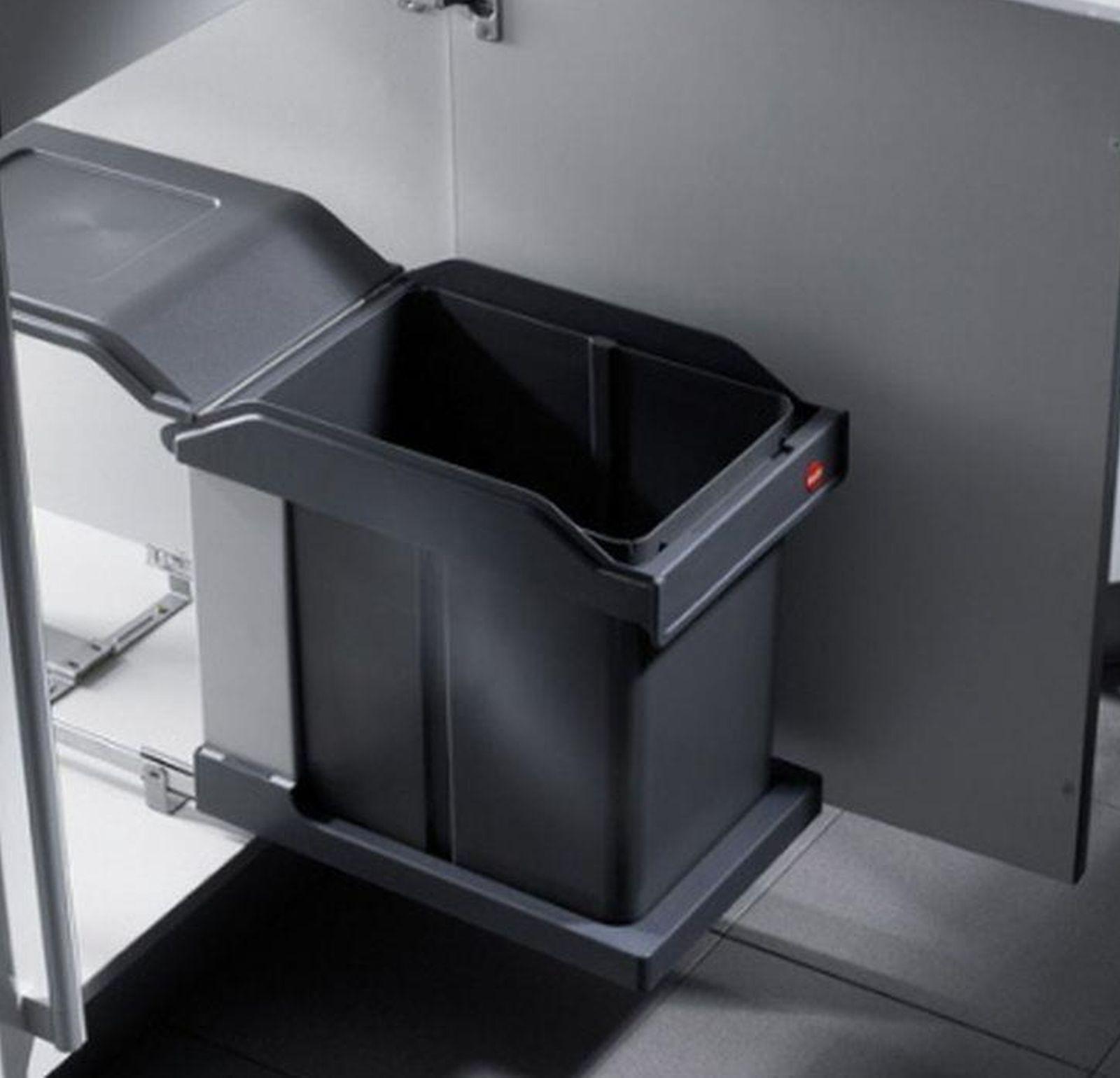 hailo solo automatik 20 liter abfall m lleimer k che ausfahrautomatik 515974 kaufen bei. Black Bedroom Furniture Sets. Home Design Ideas