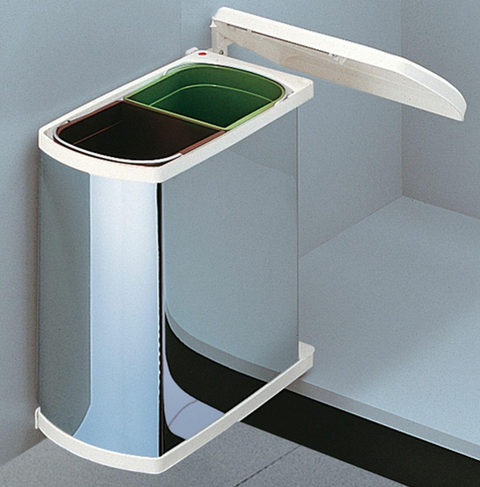 Küchen Mülleimer Mülltrennung Küche Hailo Duo Tür Müllsystem 2x8 Liter  *43426