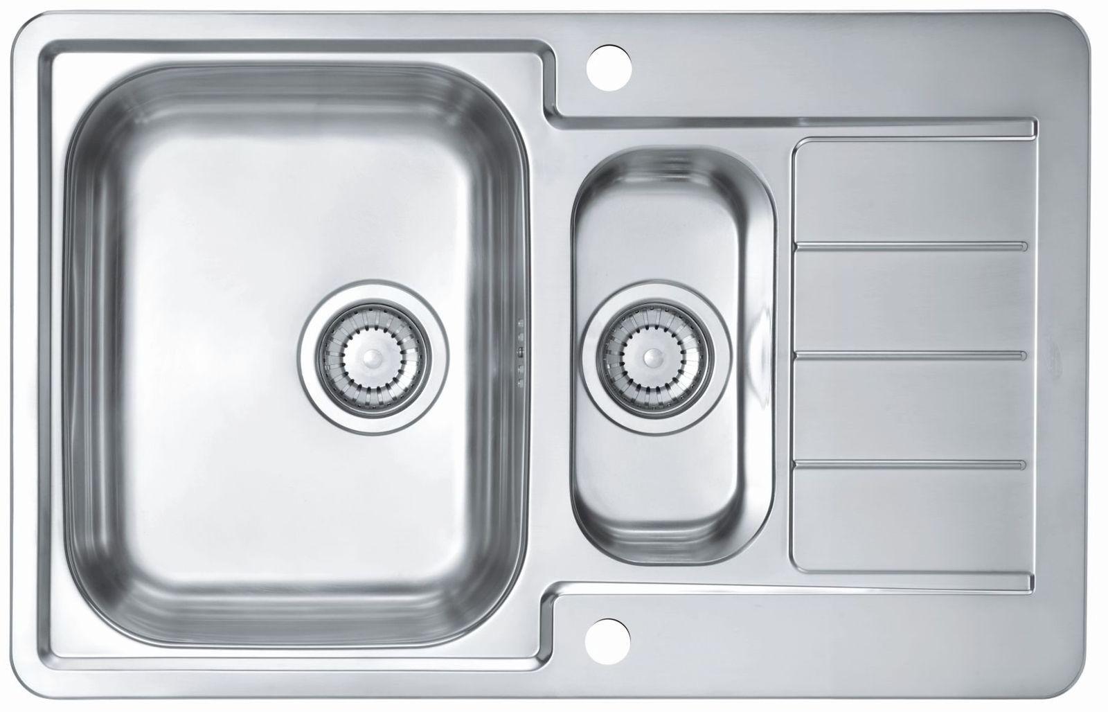 Alveus Küchen Einbauspüle 790 x 500 mm Camping 1, 5 Becken Spüle ...