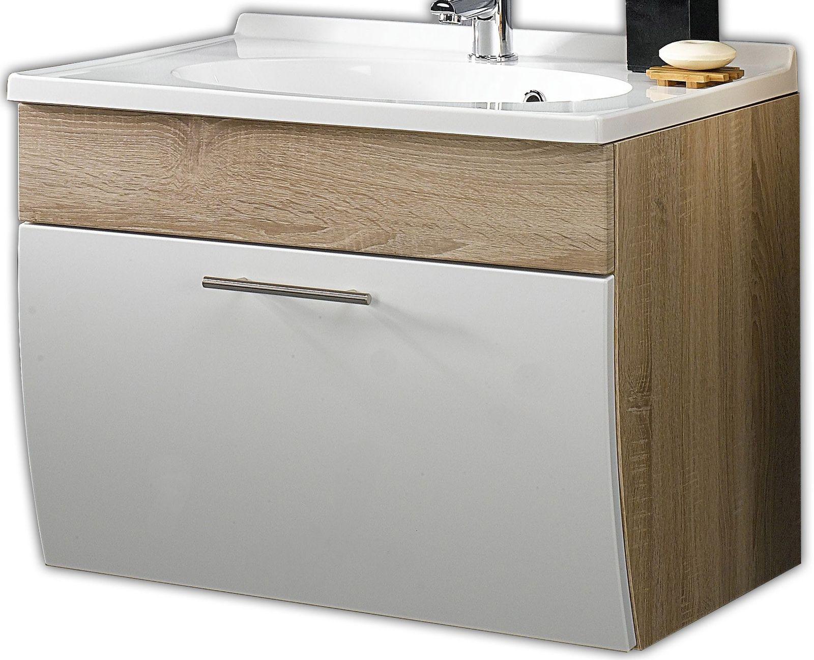 Waschplatz 70 Cm Mineralguss Waschbecken Waschtisch Badmobel Gaste
