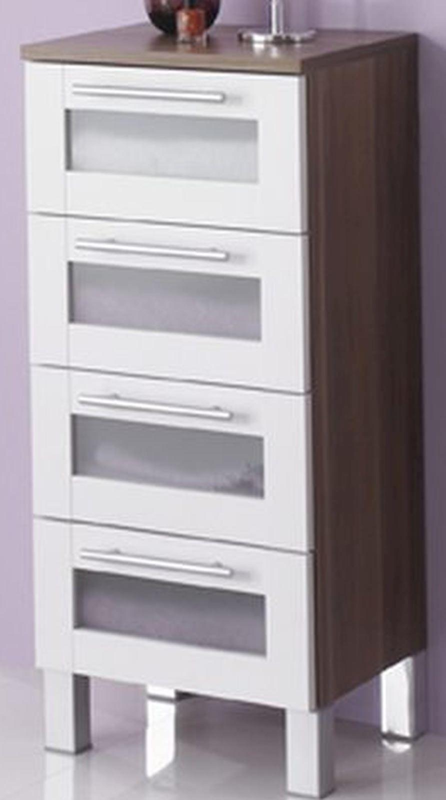 Badezimmer Unterschrank Mit Schubladen | Badezimmer Mobel Unterschrank Elan 4 Schubladen 35 X 82 Cm
