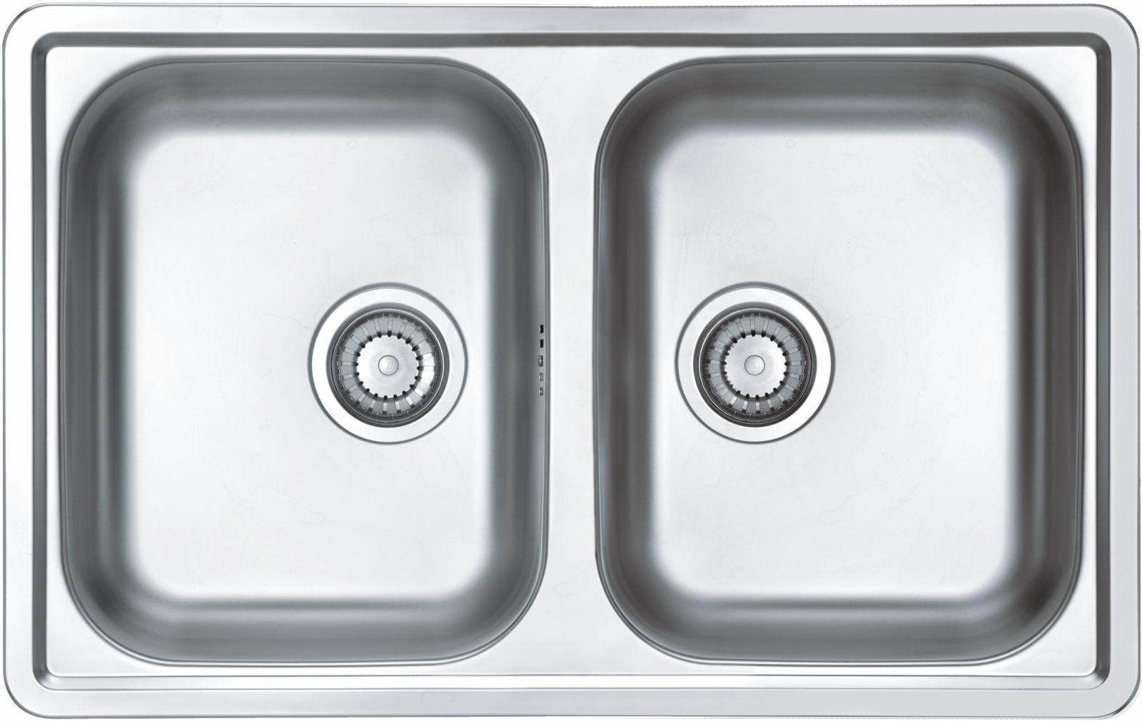 Alveus Küchen Doppelspüle Einbauspüle 790 x 500 mm Camping ...