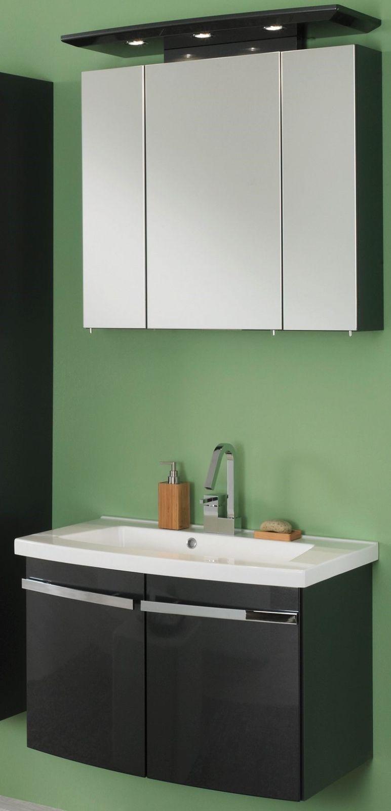 waschplatz 82 cm led spiegelschrank waschbecken badm bel waschtisch bingo 80 kaufen bei. Black Bedroom Furniture Sets. Home Design Ideas