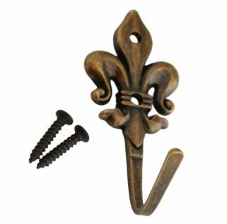 Geschirrtuchhalter Handtuchhaken Bronze antik Wandhaken Aufhänger Landhaus *513