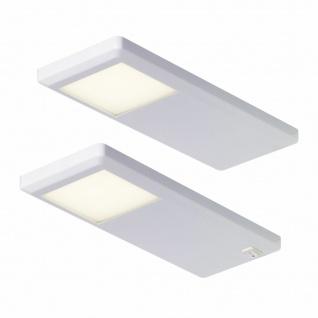 Moderne LED Küchen Unterbauleuchte UNterbaulampe Pinto 2x3 W neutralweiß *551743