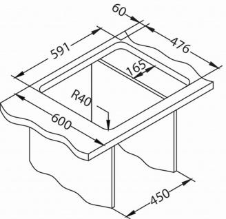 Kleine Küchenspüle 61, 5 cm Edelstahl Einbauspüle Camping Spüle Ablauf *1100215 - Vorschau 3