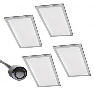 4-er Set LED Licht Küchen Unterbauleuchte BASSO 4 x 6 W Warmweiss Dimmer *567867