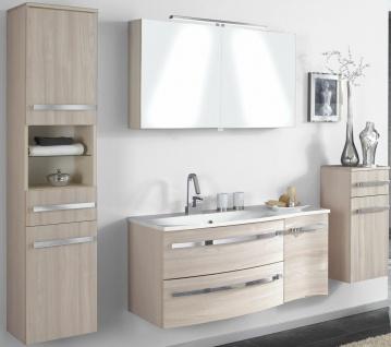 Badset 4 Teile Badmöbel Waschplatz 110 cm LED Spiegelschrank montiert *4001-Har