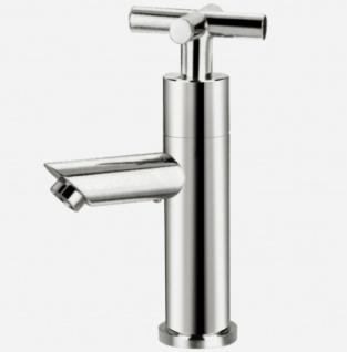 Standventil Retro Kaltwasser Armatur mit Kreuzgriff Gästebad Wasserhahn *0616