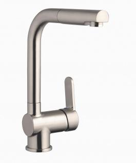 Niederdruck Küchenarmatur mit Handbrause Edelstahl-Optik Waschtischarmatur *1114