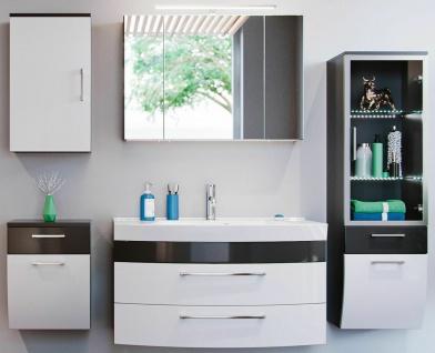 Badset Rima Waschplatz 100 cm Badezimmer 5 Teile LED Spiegelschrank Badmöbel-Set