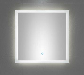 LED Badspiegel 60x60 cm Touch Bedienung Spiegel warmweiss 120 LED/Meter *6060