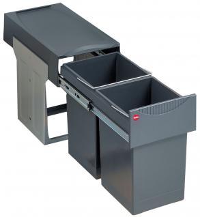 Hailo Profi Tandem 2 x 15 Liter Küchen Mülleimer Abfalleimer Vollauszug *516117