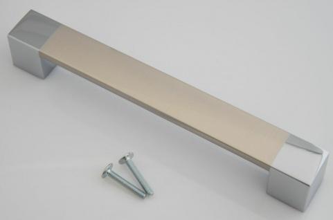 Möbelgriffe BA 160 mm BiColor Schrankgriffe Küchengriffe Schubladengriff *646