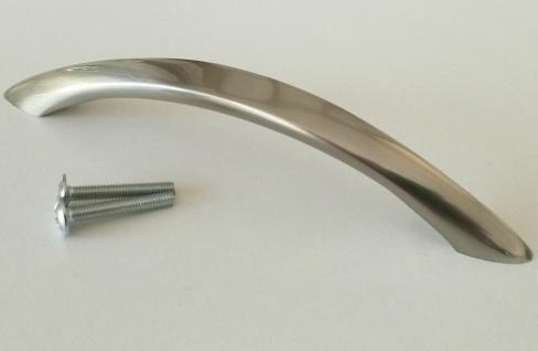 Schrankgriffe BA 128 mm Möbelgriffe Bügelgriff Küchengriffe Edelstahloptik *4018
