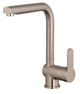 Abwasch Spültisch Küchenarmatur Edelstahloptik Wasserhahn Mischbatterie *1024