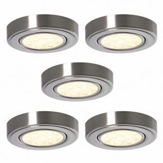 5-er Set LED Küchen Aufbauleuchte Bobby 5x3 Watt warmweiß Strahler Spot *552276