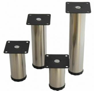 Stützfuß höhenverstellbar Möbelbein 8-20 cm Sockelfuß 50 kg Möbelfuß Fuß *526