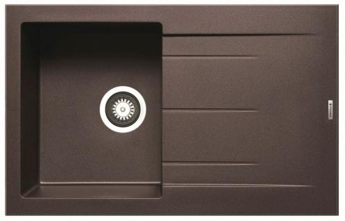 Einbauspüle 79x50 cm Küchenspüle Alazia braun Spüle chocolate Spülbecken modern