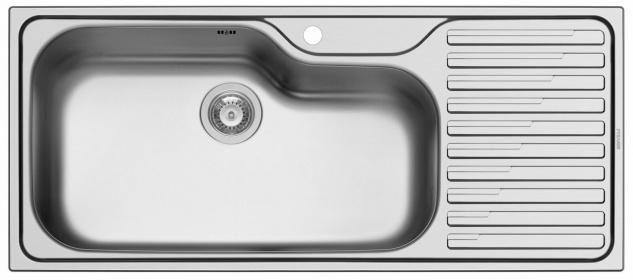 Große Küchenspüle 116cm Edelstahl Einbauspüle Gastronomie Spüle Titan *100144505