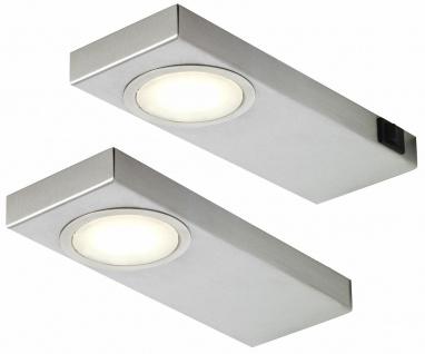 LED Küchen Unterbauleuchte Edelstahl 2x3, 5 W Lampe QuadraSun neutralweiß *549283