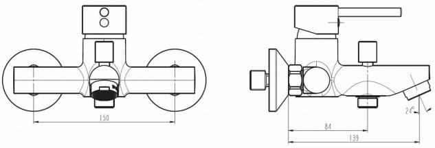 Badewannen Armatur SIGNA Einhandmischer Wasserhahn Chrom Wannenfüllarmatur *8911 - Vorschau 2