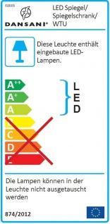 Waschplatz 111cm SoftClose Glasbecken LED Spiegelschrank Badset *2002-Dan-111-GB - Vorschau 3