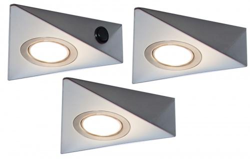 3-er Set LED Küchen Schrank Unterbauleuchte 3 Watt Leuchten-/Lampenset *548828