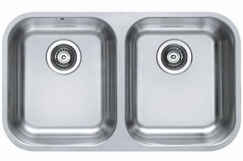 Unterbauspüle Edelstahl 75 cm Doppelspüle Küchenspüle Doppelspülbecken *1036849