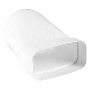 Übergangsstück Flachkanal 150x70 mm zu Ø 125 mm Dunstabzug Abluft Küche *527106