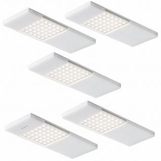 5-er Set LED Küchen Unterbauleuchte 5x4 W Unterbaulampe Sensor Dimmer *549061