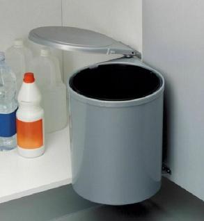 Wesco Bad Kosmetik Abfalleimer 13 Liter Küchen Mülleimer Türmontage Grau *40743