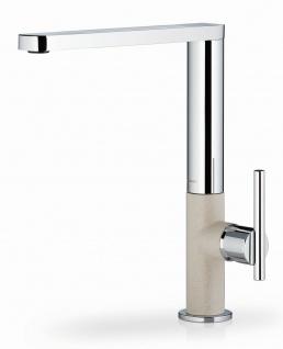 Geradlinige Küchenarmatur chrom/beige moderner Einhandmischer Grazia *090920603