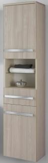 Badset 4 Teile Badmöbel Waschplatz 110 cm LED Spiegelschrank montiert *4001-Har - Vorschau 2