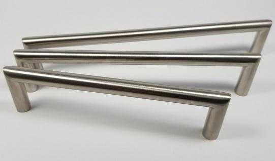 Möbelgriffe BA 128-192 mm Küchengriffe Edelstahl massiv Tür Schrankgriffe *673