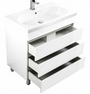 Waschtisch mit Unterschrank 91 cm stehend Waschbecken Standmöbel Badmöbel KALI90