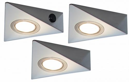 3-er Set LED Küchen Unterbauleuchte 3x3 W Leuchtenset Lampenset warmweiß *548828