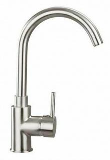 Niederdruck Küchenarmatur Edelstahl-Optik Wasserhahn Spültischarmatur *1194