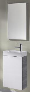 Waschplatz Selina 40 cm Spiegel Anthrazit/Weiss Gästebad WC Waschtisch *91200