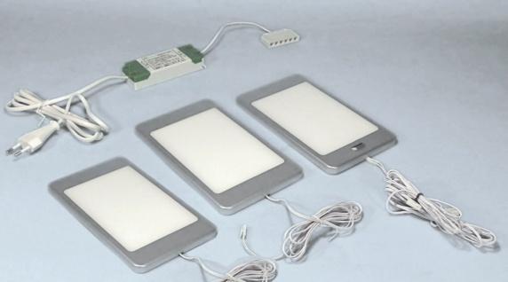 LED 3-er Set Küchen Unterbauleuchte PINE 3 x 6 W Neutralweiss Sensorlicht *30658