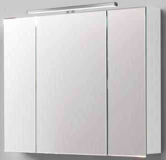 Scanbad 3D LED Spiegelschrank 100 x 80 cm Schalter Steckdose IP21 *SPS-Dan-100