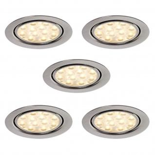 LED 5-er Set Einbauleuchte 5 x 3 W Regalboden Strahler Küchen Einbauspot *552207