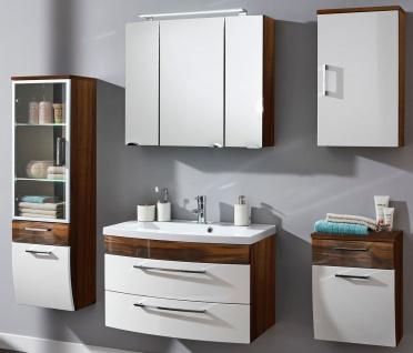 5 Teile Badezimmer komplett Waschplatz 100 cm Badmöbel Badmöbelset *5005