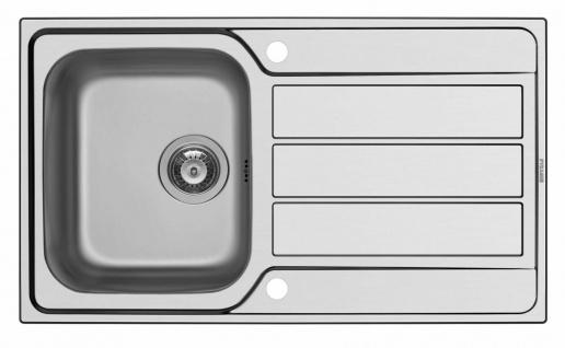 Einbauspüle Edelstahl Küchenspüle 86 cm Spülbecken mit Hahnloch Spüle *101100112