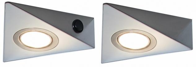 LED Edelstahl Unterbauleuchte Küche 2x3 W Unterbaulampe Küche warmweiß *548811