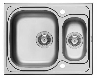 Küchenspüle 62x50 cm Einbauspüle Amaltia kleine Spüle 1, 5 Spülbecken edelstahl