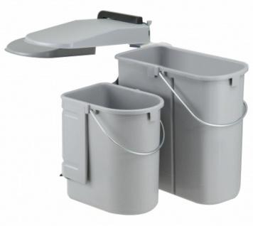 Wesco Mülleimer Küche Abfalleimer 19+10 Liter Einbau 50 cm Unterschrank *40700