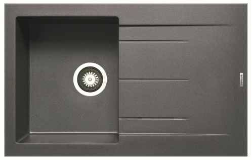 Moderne Einbauspüle 79x50 cm Küchenspüle Alazia Spüle iron grey Spülbecken grau